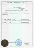 Приложение к сертификату Дверь взломостойкая VII (7) класса в хранилище